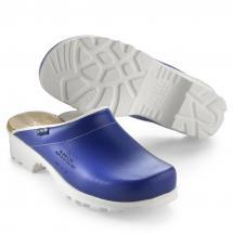Köp Mjuk arbetssko i läder Blå på MittPlagg.se