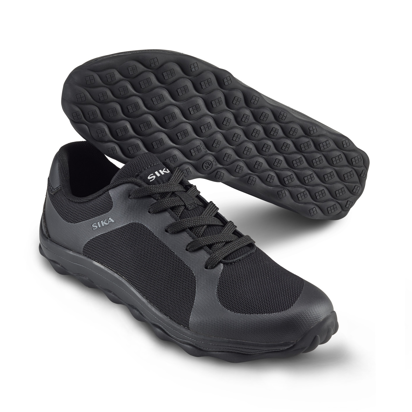 Mjuk arbetssko i sneakersmodell Svart (46)