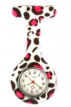 Köp Sjuksköterskeklocka Rosa Leopard på MittPlagg.se