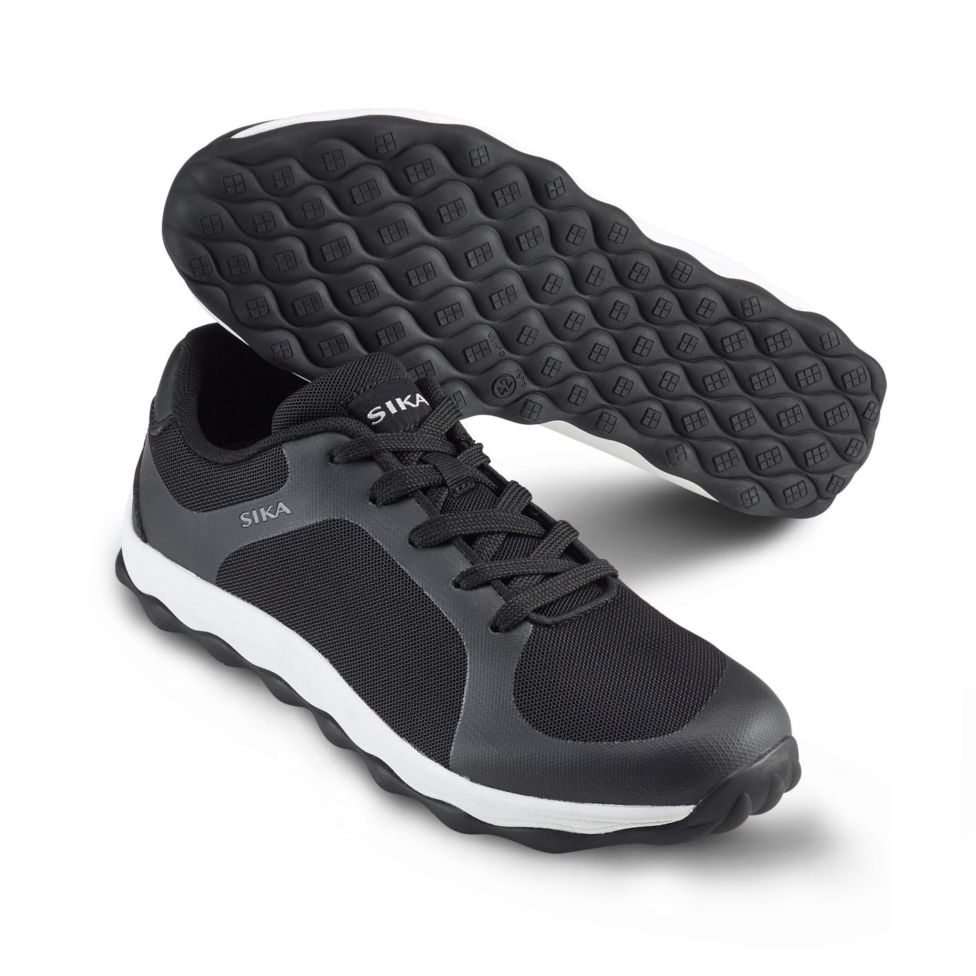 Mjuk arbetssko i sneakersmodell Svart/Vit (45)